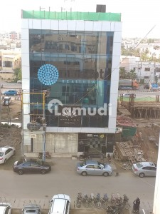 Slightly Used Glass Elevation Building With Lift Defence Phase 6 Shahbaz Commercial Near 26 Street 200 Yards Whole Building Available For Rent