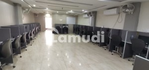 First Floor Commercial Hall Is Available For Rent With Call Center Setup