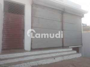 10 Marla 2 Commercial Shops With Basement And Parking For Rent On Main University Road