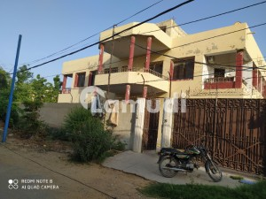 1000 Sq Yd Corner Double Story Beautiful Bungalow Available Two portions at ground