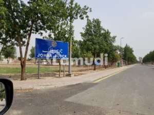 10 Marla 60ft Road Residential Plot  406 developed plot at Ideal and builder location for sale in johar Block