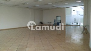 5000 SQ FT Brand New Corporate Building Floor with Big Halls and parking on a very good location is available for Rent