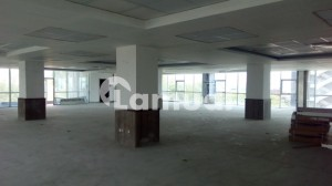 10000 SQ FT Brand New Corporate Building Floor with Big Halls and parking on a very good location is available for Rent.