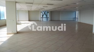 15000 SQ FT Brand New Corporate Building Floor with Big Halls and parking on a very good location is available for Rent.