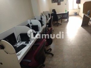 Furnished office With 10 Workstations For Rent In Barkat Market