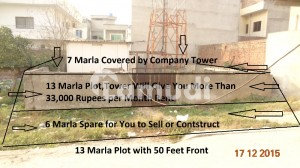13 Marla Plot With Mobile Company Tower In It Giving 33000 Rupees Monthly Rent