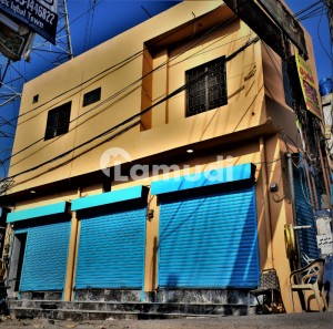 Approx 2 Marla Double Storey Shop Corner Main Multan Road Hassan Town Available For Sale