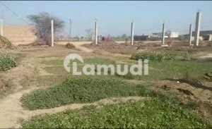 Industrial Plot With Pillars For Sale