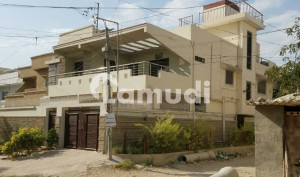Beautiful Corner Ground Plus 1 House For Sale Bottom To Top Full Marble 100 Feet Dividing Road Vip Location North Karachi Sector 11-b
