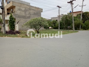 7 Marla Corner 80ft Road 3 Side Open Semi Commercial Facing Park Near Market And Mosque Plot For Sale