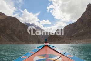 10 Kanal Land For Sale At Atabad Lake Hunza  Main Krakarum Highway Cpec Road Precisely On Boating Area  Suitable For Hotel Mallshops Office And Other Purpose