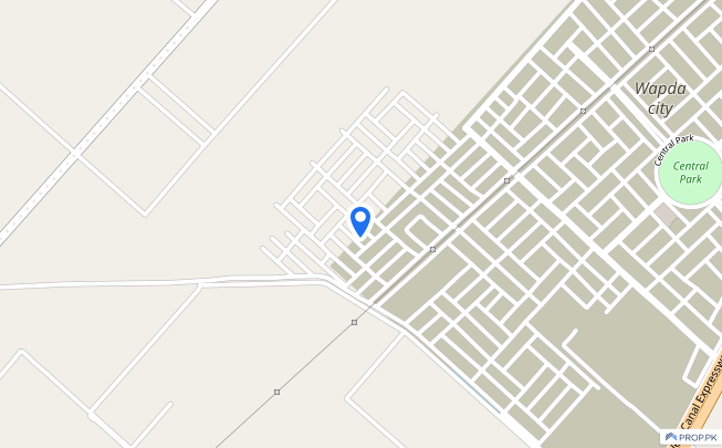 10 Marla Corner Plot For Sale In Front Of Canal At The Corner Of Triangle Park - Wapda City - Block A